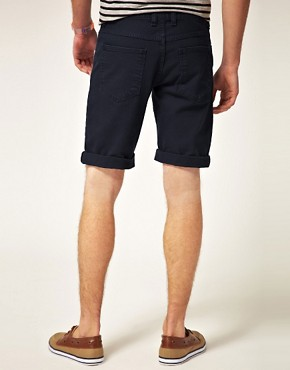 Image 2 ofASOS Denim Short In Black