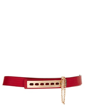 Image 1 ofASOS Link And Plate Detail Belt