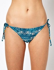 Warehouse Crochet Print Bikini Bottom