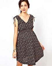 New Look Maternity Waist Detail Printed Dress