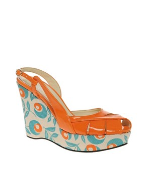 Image 1 ofBeyond Skin Sunny Printed Wedge Sandal