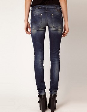 Image 2 ofG-Star Midge Distressed Skinny Jeans