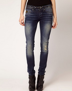 Image 1 ofG-Star Midge Distressed Skinny Jeans