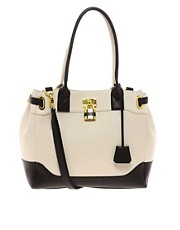 ASOS Bag With Side Straps In Colourblock