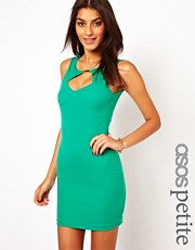 ASOS PETITE Exclusive Bodycon Dress with Low Cross Back