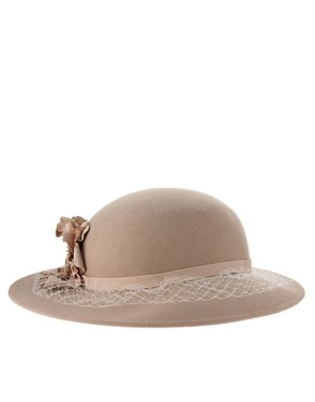 Image 4 ofCatarzi Exclusive For Asos Net &amp; Flower Lady Hat