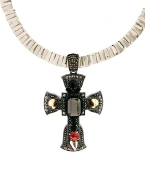 Image 2 ofASOS Premium Ophelia Cross Necklace