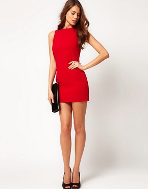 Image 4 ofASOS PETITE Exclusive Mini Dress With Open Back