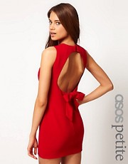ASOS PETITE Exclusive Mini Dress With Open Back