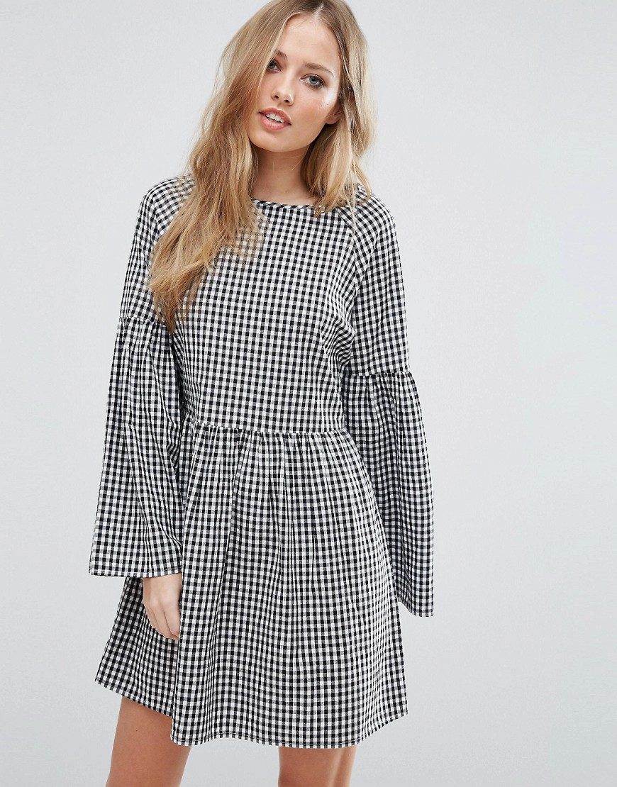 Vero Moda Gingham Smock Dress - Multi
