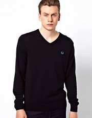 Fred Perry Sweater with V Neck
