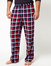 Boss Black Check Jersey Lounge Bottoms