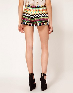 Image 2 ofSass &amp; Bide Embroidered Silk Mix Shorts