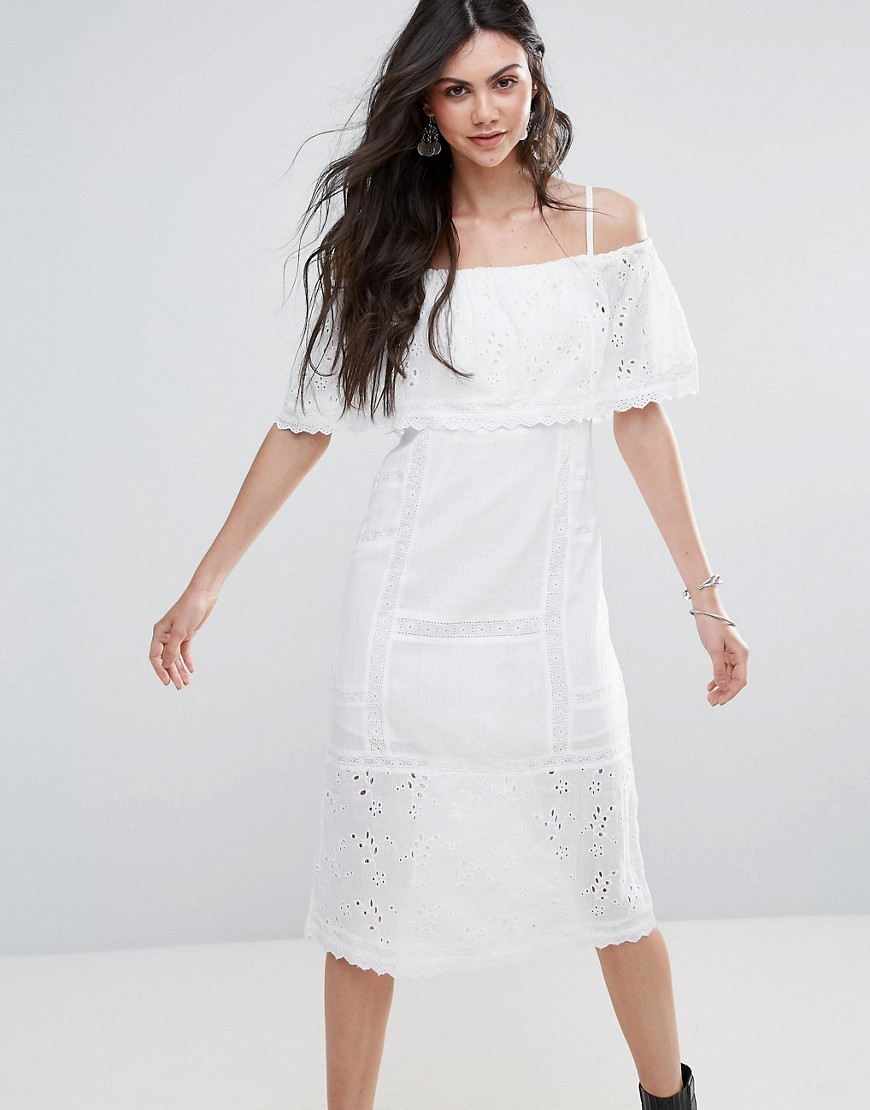 Free People Most Beautiful Off Shoulder Midi Dress