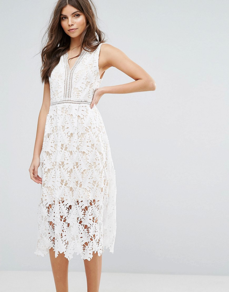 Rd & Koko Lace Skater Midi Dress