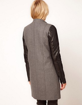 Image 2 ofASOS PU Biker Coat