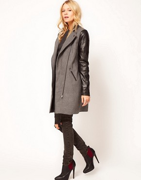 Image 4 ofASOS PU Biker Coat