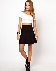 American Apparel High Waist Jersey Skirt