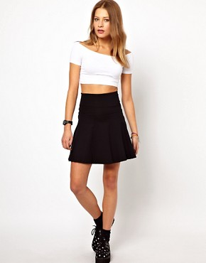 Image 1 of American Apparel High Waist Jersey Skirt