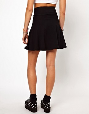 Image 2 of American Apparel High Waist Jersey Skirt
