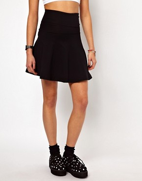 Image 4 of American Apparel High Waist Jersey Skirt