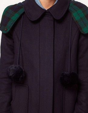 Image 3 ofASOS Bonded Duffle Coat