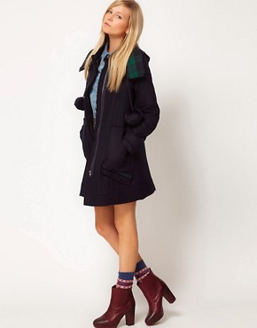 Image 4 ofASOS Bonded Duffle Coat