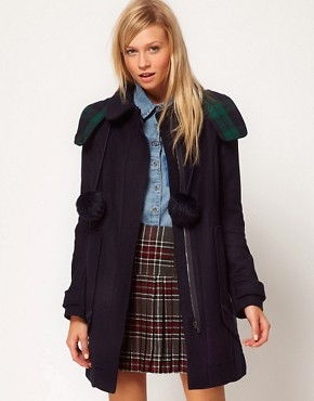 Image 1 ofASOS Bonded Duffle Coat