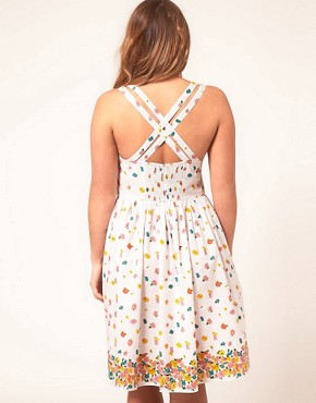 Image 2 of ASOS CURVE Midi Summer Dress with Floral Border Print