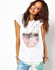 ASOS T-Shirt with Heads in the Clouds Print