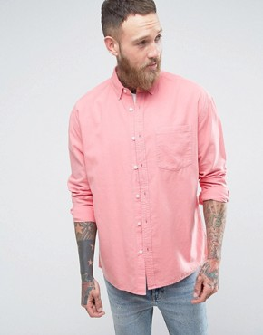 ASOS Oversized Oxford In Pink