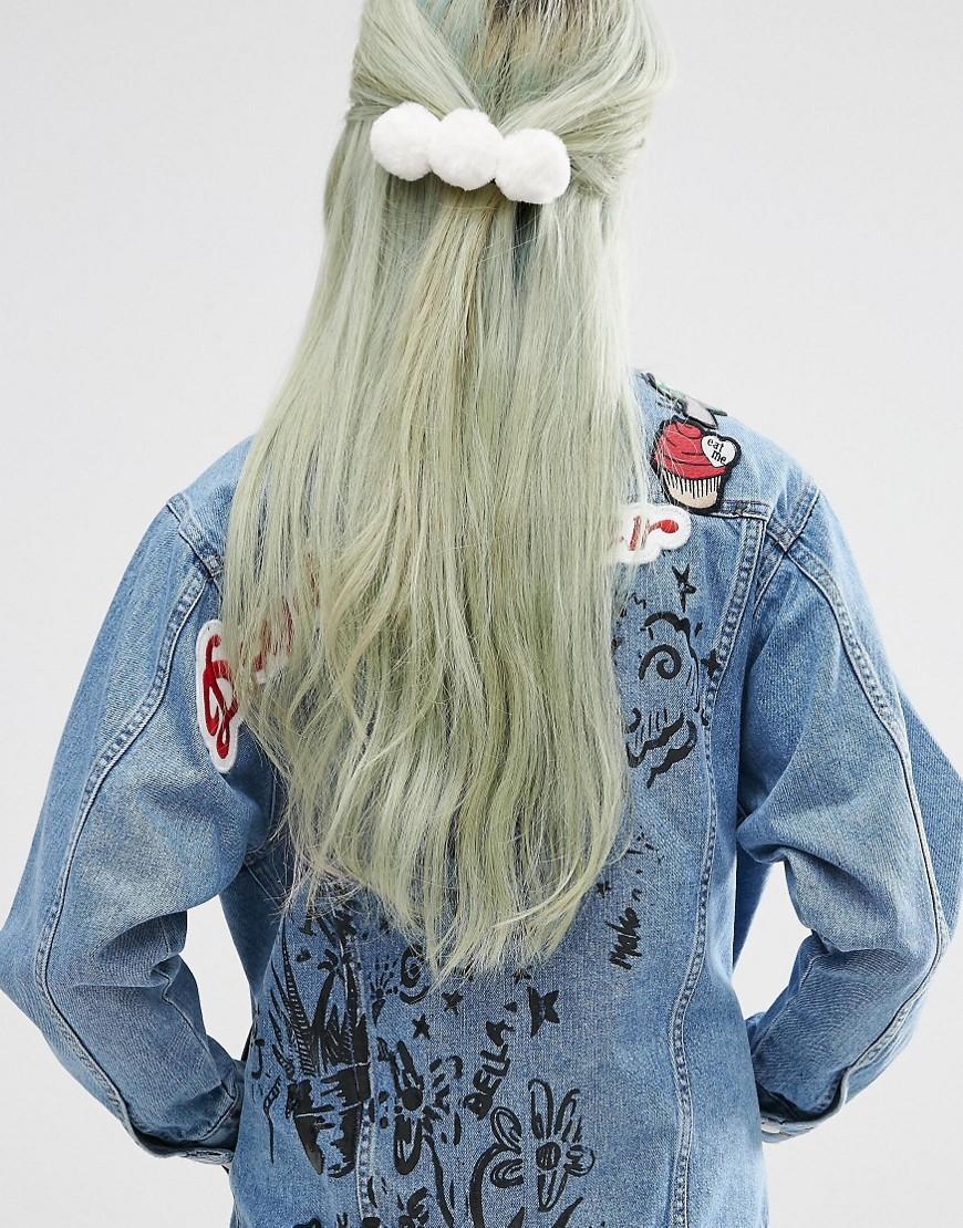 Заколка для волос ограниченной серии с помпоном - Белый
