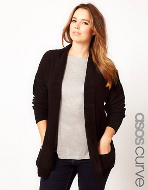 Image 1 ofASOS CURVE Slouchy Cardigan With Pockets