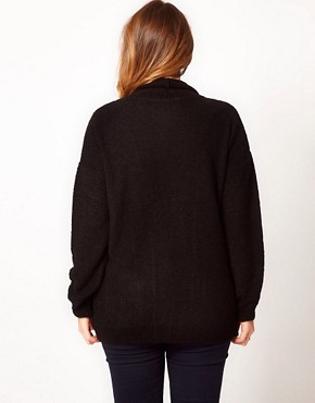 Image 2 ofASOS CURVE Slouchy Cardigan With Pockets