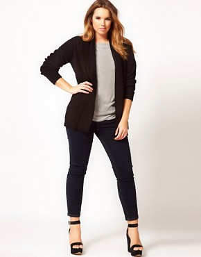Image 4 ofASOS CURVE Slouchy Cardigan With Pockets