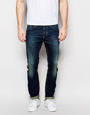 ASOS Stretch Slim Jeans In 12.5oz Tinted Blue