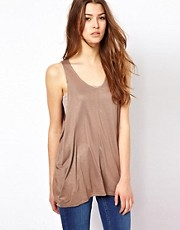 Costa Blanca Sleeveless Metallic Top