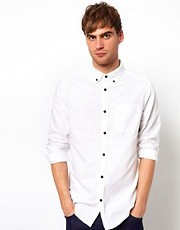 River Island Rolled Sleeve Oxford Shirt