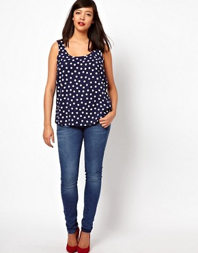 Image 4 ofASOS CURVE Vest In Spot Print