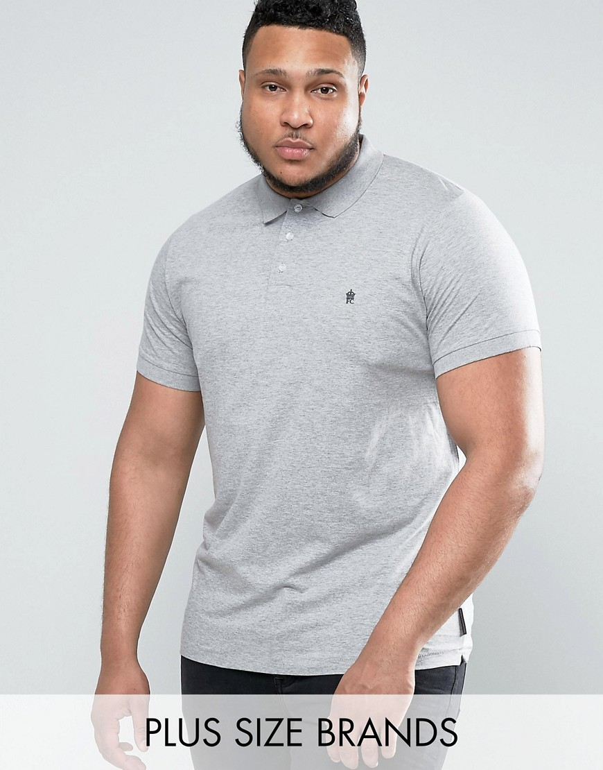 French Connection PLUS Basic Polo Shirt - Grey