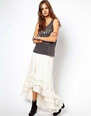 ASOS Maxi Skirt with Frill Hem