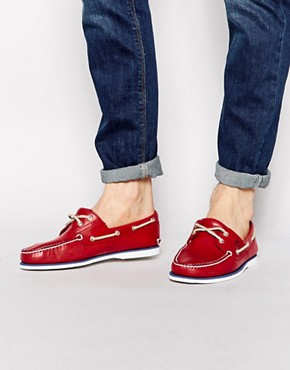 Timberland Timberland Classic Boat Shoes (Red)