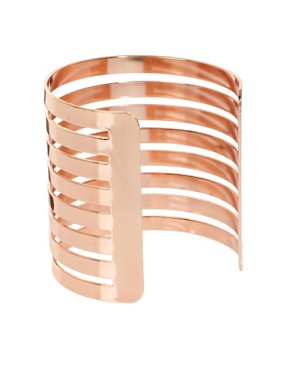 Image 2 ofASOS Cut Out Stripe Cuff Bracelet