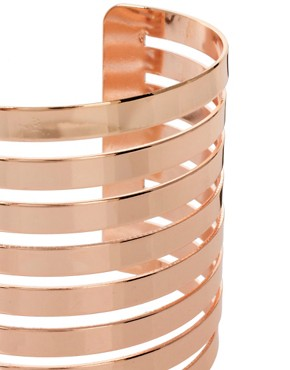 Image 4 ofASOS Cut Out Stripe Cuff Bracelet