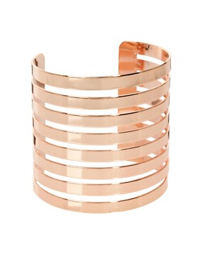 Image 1 ofASOS Cut Out Stripe Cuff Bracelet
