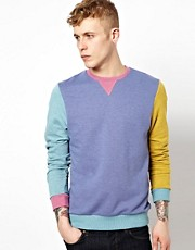 ASOS Sweatshirt In Multi Colours