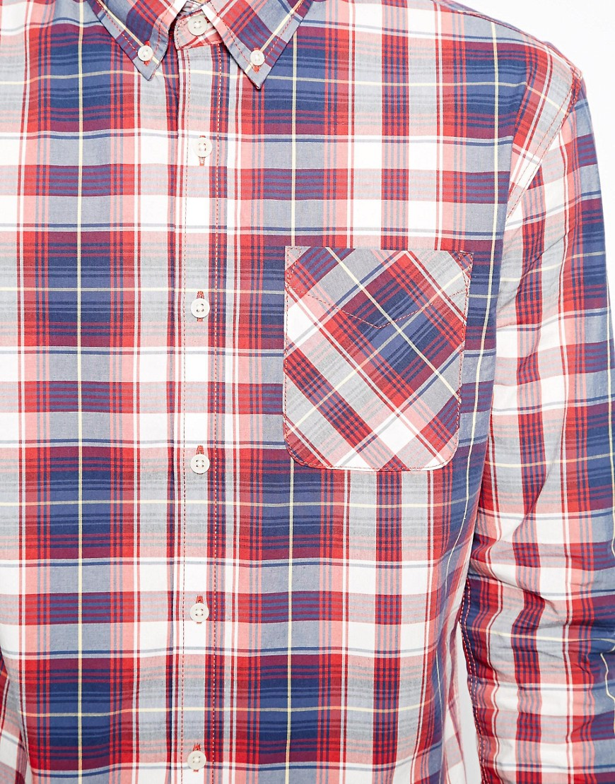 Image 3 of Selected Shirt In Red Check