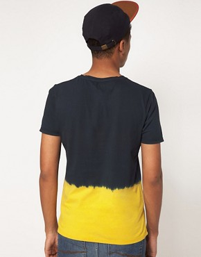 Image 2 ofASOS T-Shirt With Dip Dye Hem