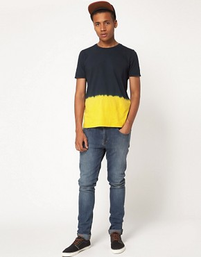 Image 4 ofASOS T-Shirt With Dip Dye Hem