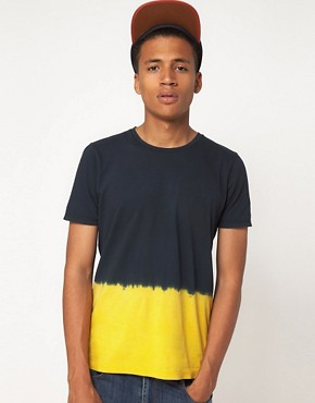 Image 1 ofASOS T-Shirt With Dip Dye Hem